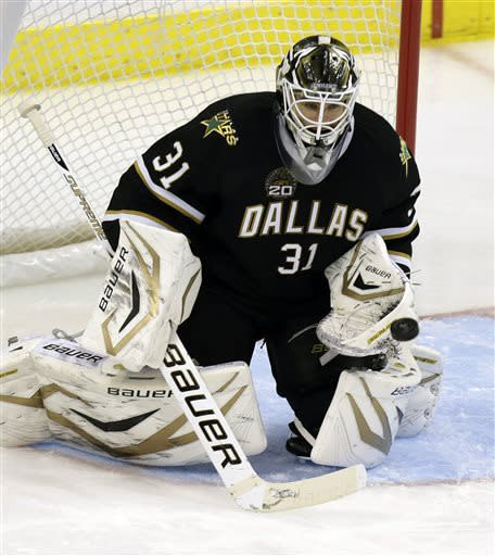 Stars extend streak to 5 with 2-1 win over Sharks