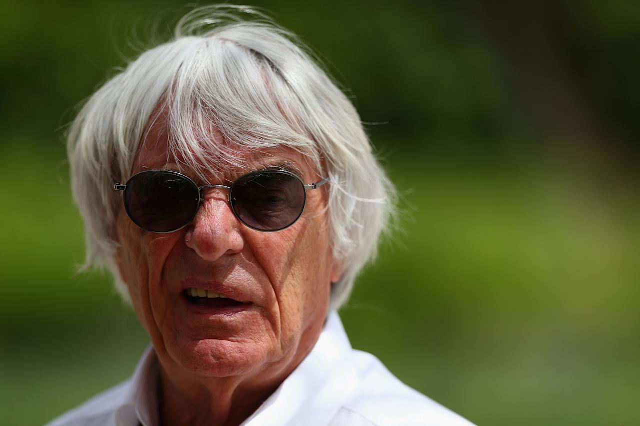 SAKHIR, BAHRAIN - APRIL 21:  F1 supremo Bernie Ecclestone is seen in the paddock during the Bahrain Formula One Grand Prix at the Bahrain International Circuit on April 21, 2013 in Sakhir, Bahrain.  (Photo by Clive Mason/Getty Images)