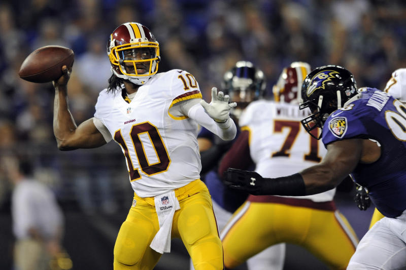 RG3, Redskins' starters won't play Thursday