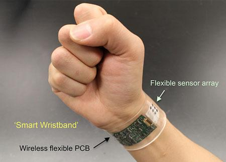 "The new sensor developed at UC Berkeley can be made into ""smart"" wristbands or headband."