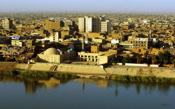 BAGHDAD, IRAQ - SEPTEMBER 21: Tigris River and skyline on September 21, 2006 in Baghdad, Iraq. The United Nations Assistance Mission in Iraq reportedly said the number of Iraqi civilian killed in July and August hit 6,599.  (Photo by Wathiq Khuzaie/Getty Images).