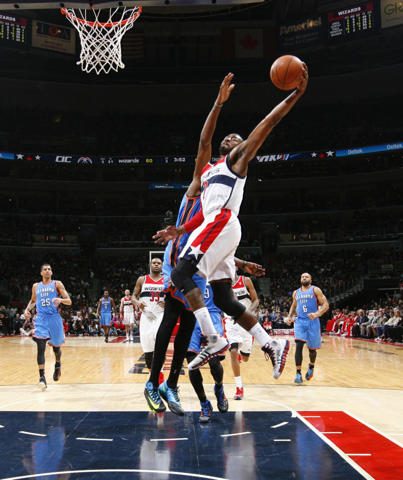 Wizards end Thunder's 10-game win streak, 96-81