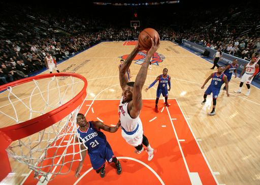 Knicks send 76ers to 17th straight loss