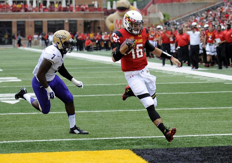 Maryland lineman Dunn: from walk-on to blind side