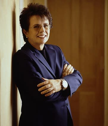 """<div class=""""caption-credit""""> Photo by: Jonathan Exley / King Enterprises</div><div class=""""caption-title"""">Billie Jean King 
