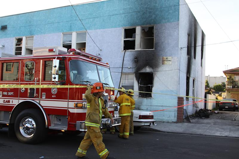 14 hurt, 3 critically, in Los Angeles hotel fire