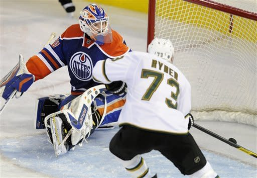 Ryder's 3 points lead Stars to 3-1 win over Oilers
