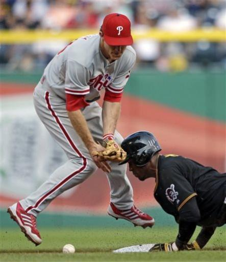 Phillies snap Pirates' 9-game win streak, 3-1