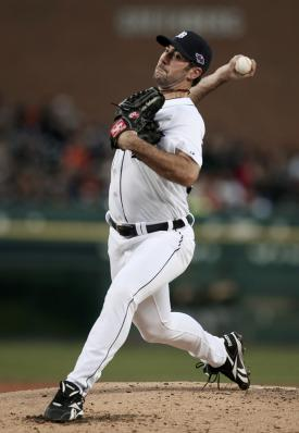 Justin Verlander gave up one run and three hits in seven innings against the A's. (Reuters)