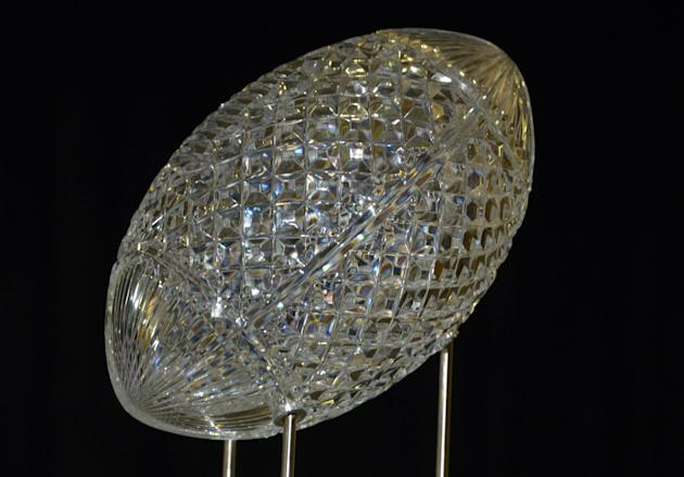 Jan 7, 2014; Newport Beach, CA, USA; General view of the crystal football on the Coaches Trophy at 2014 BCS National Championship press conference at Newport Beach Marriott. (Kirby Lee-USA TODAY Sports)