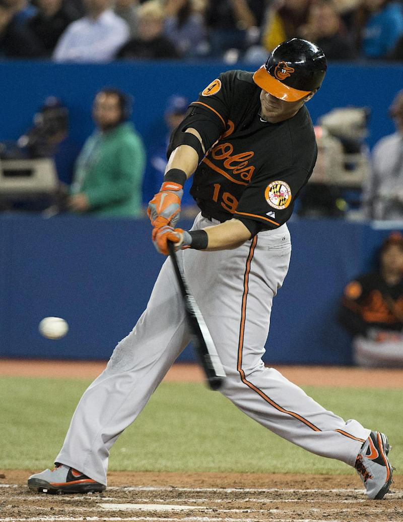 Davis hits 50th homer; Orioles beat Blue Jays