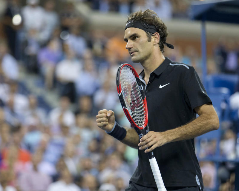 Tennis: U.S. Open-Federer vs Monfils
