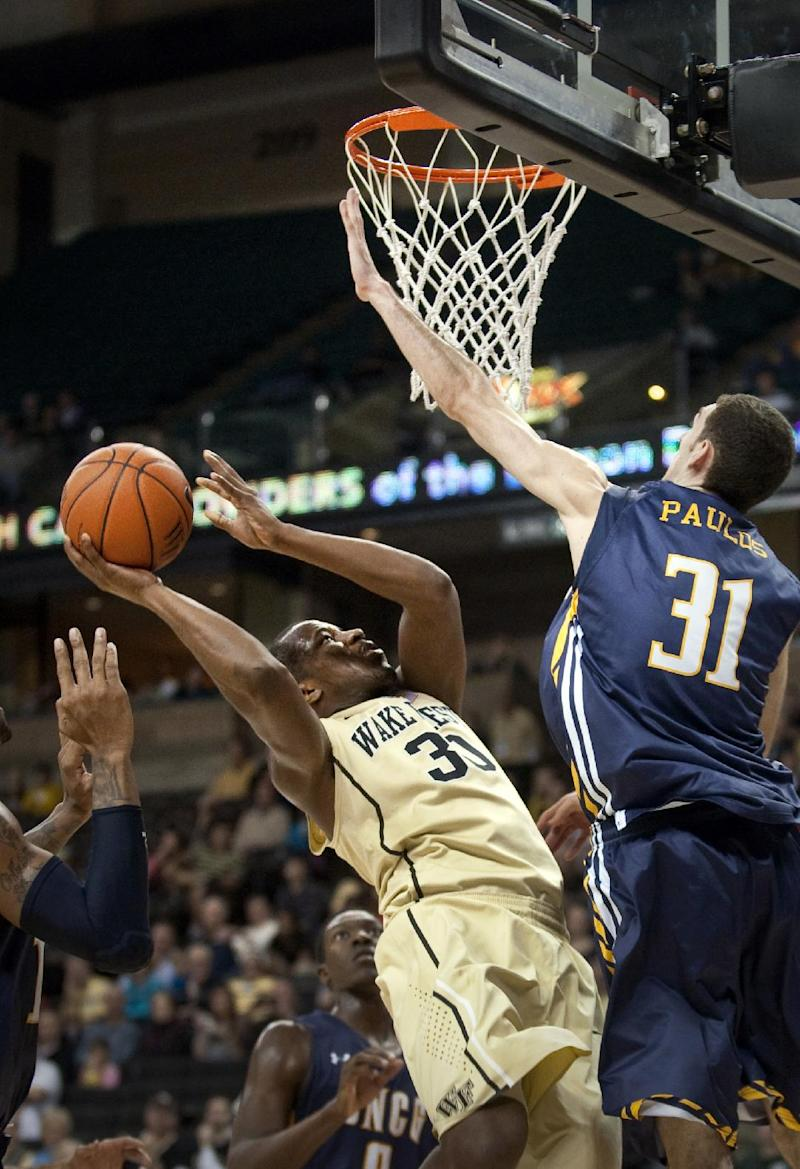 Wake Forest beats UNC-Greensboro 59-51