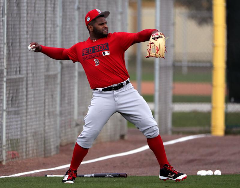 Pablo Sandoval has reportedly lost at least 30 pounds since last season. (The Boston Globe/Getty)