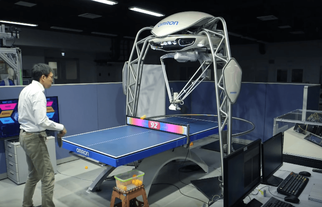 """A Ping-Pong-playing robot has just earned official recognition from Guinness World Records for its ability to play and teach the game. Its Japanese creators hope the machine can help to """"harmonize humans and robots."""""""