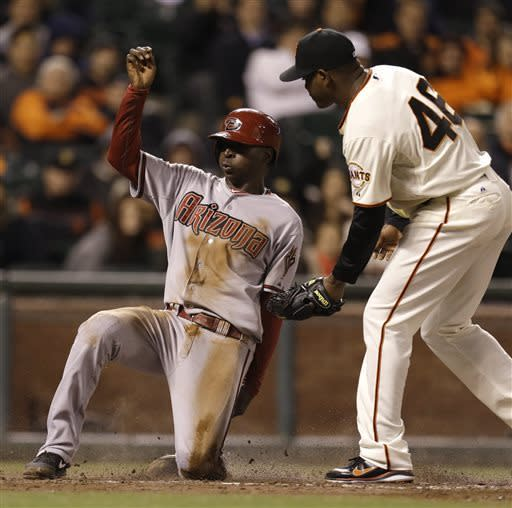 Diamondbacks recover to beat Giants 6-4 in 11
