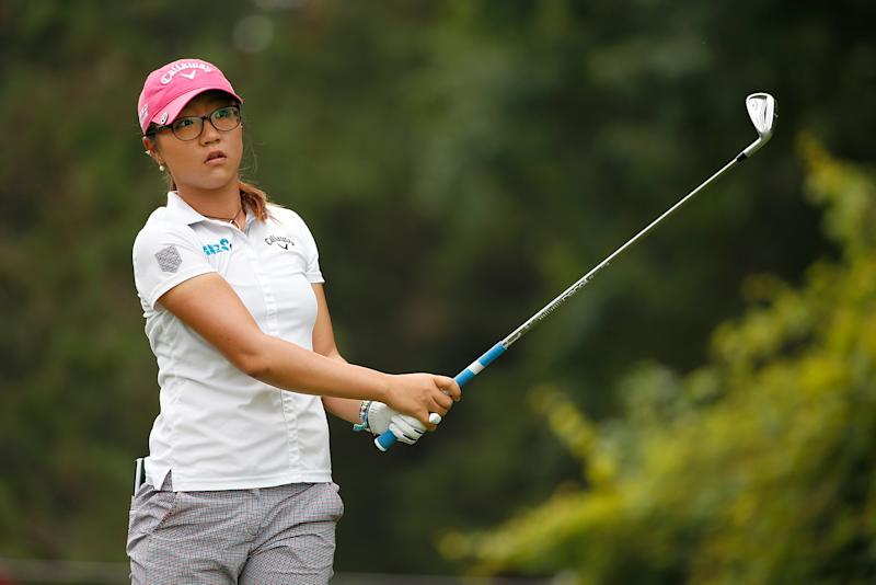 Lydia Ko of New Zealand watches her tee shot on the second hole during the final round of the Marathon Classic presented by Owens Corning and O-I at Highland Meadows Golf Club on July 20, 2014 in Sylvania, Ohio