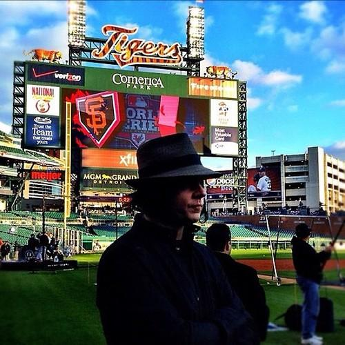 Jack White at Comerica Park, via @Kevinkaduk