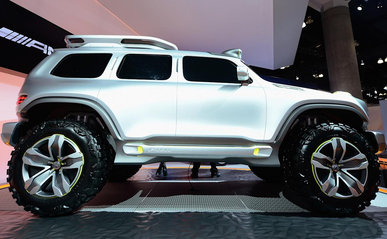LOS ANGELES, CA - NOVEMBER 29:  The Mercedes-Benz Ener-G-Force concept is unveiled during the Los Angeles Auto show on November 29, 2012 in Los Angeles, California. The LA Auto Show opens to the public on November 30 and runs through December 9.  (Photo by Kevork Djansezian/Getty Images)