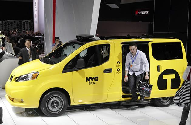 Nissan 2013 NV200 taxi specifically designed for use in New York City