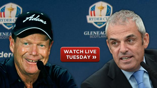 Live coverage of 2014 Ryder Cup Year to Go News Conference