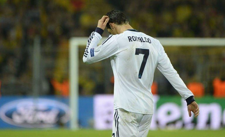 Real Madrid's Cristiano Ronaldo after the Champions League semi-final first leg against Borussia Dortmund, on April 24, 2013