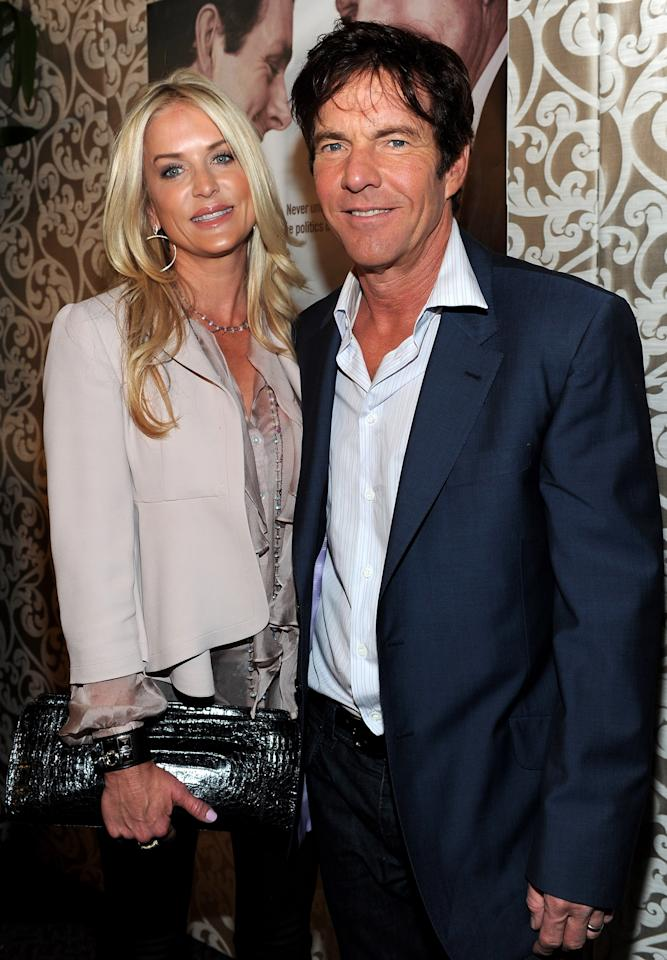 """LOS ANGELES, CA - FILE:  Kimberly Quaid and actor Dennis Quaid arrive at  the Los Angeles premiere of HBO Films' """"The Special Relationship"""" at the DGA Theater on May 19, 2010 in Los Angeles, California. Kimberly has filed for divorce from actor Dennis Quaid on March 9, 2012. (Photo by Alberto E. Rodriguez/Getty Images)"""