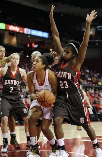 No. 9 Maryland rolls past Brown 76-36