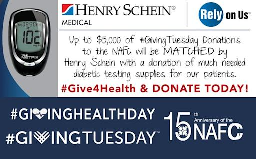 NAFC Partners with Henry Schein Medical This #GivingTuesday to Address Diabetes Among the Medically Underserved