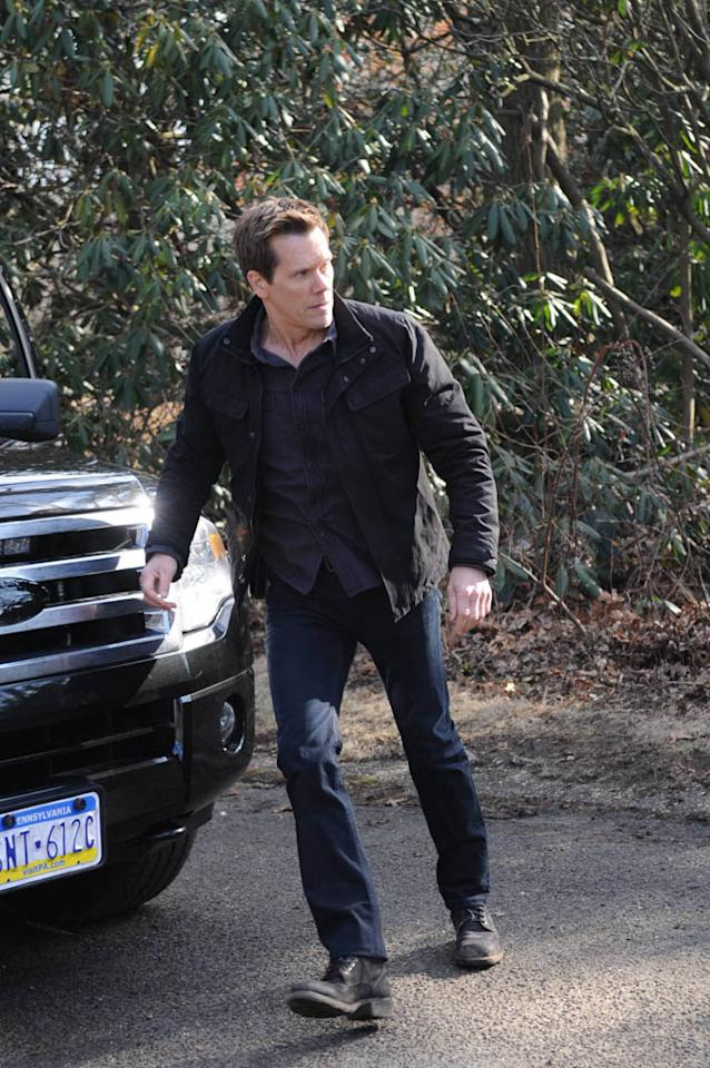 """Ryan Hardy (Kevin Bacon) goes after Joe Carroll's followers in the """"Guilt"""" episode of """"The Following."""""""