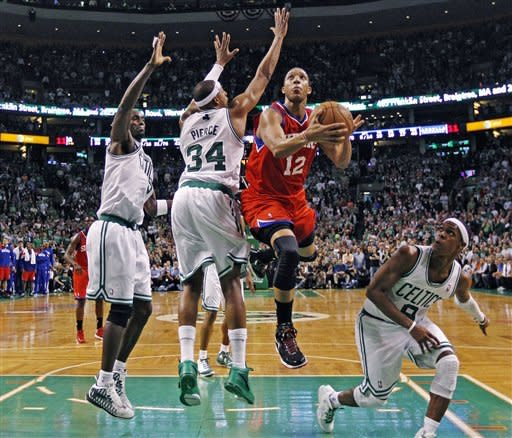 76ers even series with 82-81 win over Celts