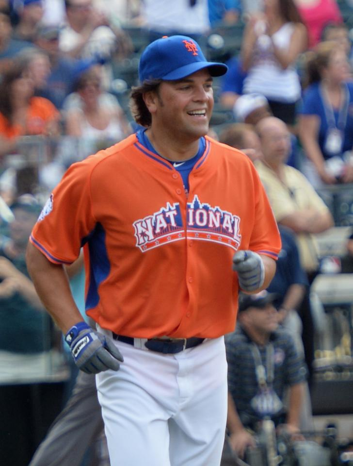 NEW YORK, NY - JULY 14: Former professional baseball player Mike Piazza attends the Taco Bell All-Star Legends & Celebrity Softball Game at Citi Field on July 14, 2013 in New York City. (Photo by Mike Coppola/Getty Images)