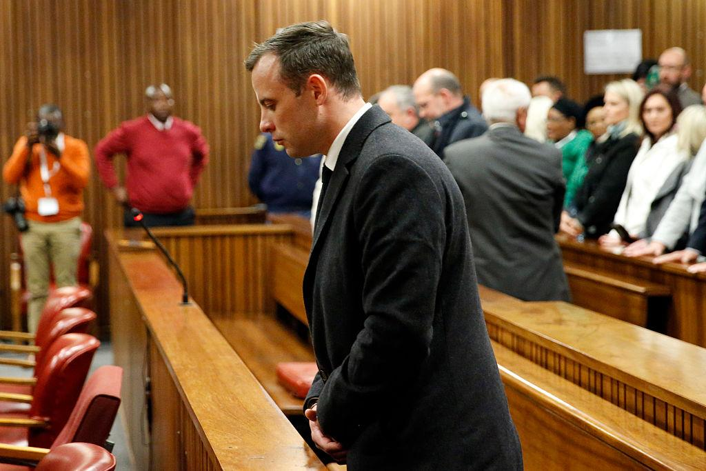 <p>Once one of the world's most inspirational sportsmen, disgraced Oscar Pistorius was re-tried at the end of 2015 for the murder of his girlfriend Reeva Steenkamp, after originally being convicted of culpable homicide two years ago. He was found guilty. In July 2016 he was given a new sentence of six years in jail. The punishment was met with a scathing reaction, with prosecutors immediately pledging to appeal his lenient sentence. (Marco Longari – Pool/Getty Images) </p>