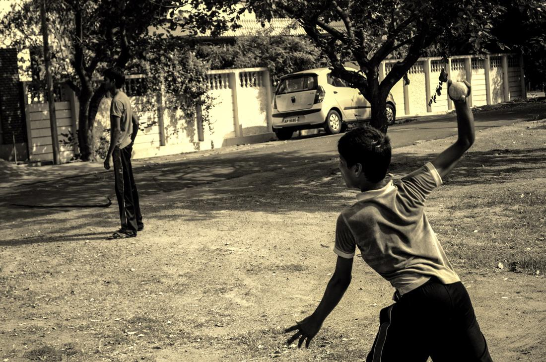 The 15-degree rule be damned. This is street cricket. By Gowtham Vasireddy [SCPC5]