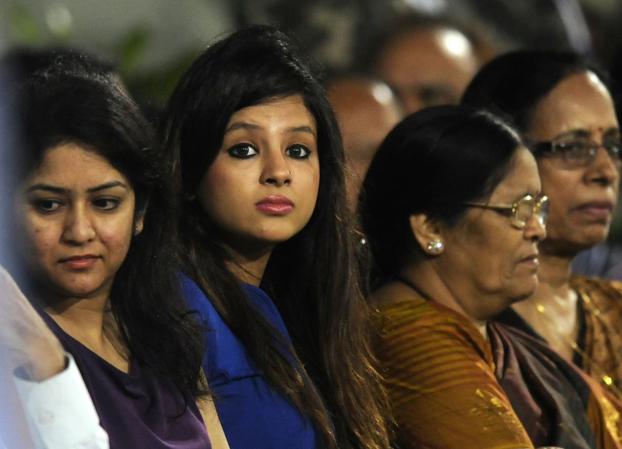 Shakshi Dhoni wife of Mahendra Singh Dhoni captain of India watches the match during the fourth Star Sports Series One Day International (ODI) between India and Australia held at the JSCA International Cricket Stadium, Ranchi on the 23rd October 2013  Photo by Pal Pillai - BCCI - SPORTZPICS    Use of this image is subject to the terms and conditions as outlined by the BCCI. These terms can be found by following this link:  http://sportzpics.photoshelter.com/gallery/BCCI-Image-terms-and-conditions/G00004IIt7eWyCv4/C0000ubZaQCkIRgQ
