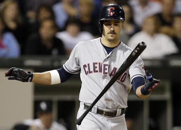 The whole city of Cleveland needs rally mustaches like Lonnie Chisenhall (AP)