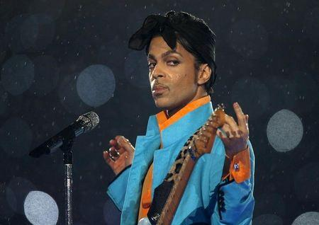 Prince performs during the halftime show of the NFL's Super Bowl XLI football game between the Chicago Bears and the Indianapolis Colts in Miami, Florida, U.S. February 4, 2007.     REUTERS/Mike Blake/File Photo
