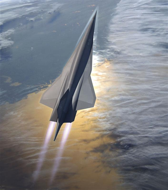 Artist's rendering shows Lockheed Martin's planned SR-72 twin-engine jet aircraft