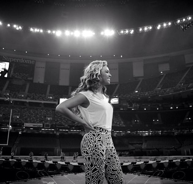 Beyonce The singer continues to document her journey to the Super Bowl, including this amazing view of an empty Superdome.