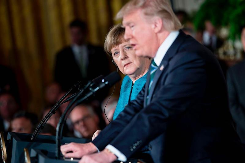 news donald trump angela merkel find common ground