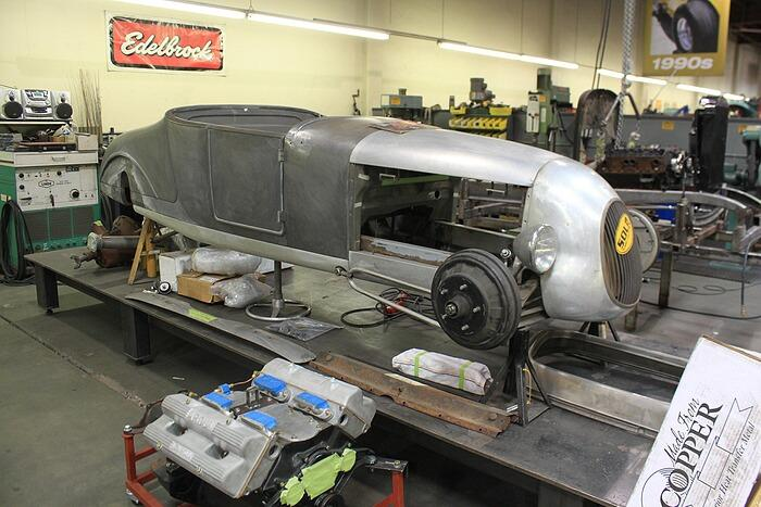 John Mumford's 1927 Ford Track T, under construction in Roy Brizio's shop