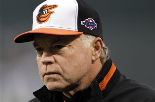 Buck Showalter has guided the Orioles into the AL division series against the Yankees. (AP)