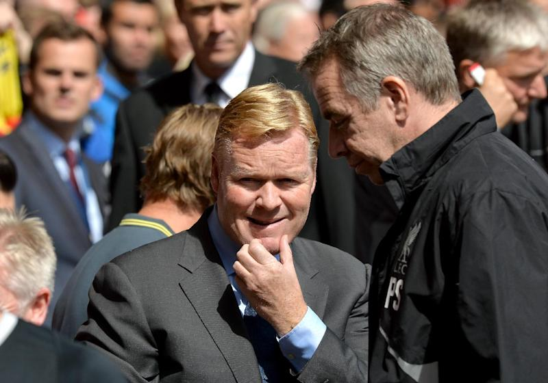 Southampton's Dutch manager Ronald Koeman arrives for the English Premier League football match between Liverpool and Southampton at Anfield stadium in Liverpool on August 17, 2014