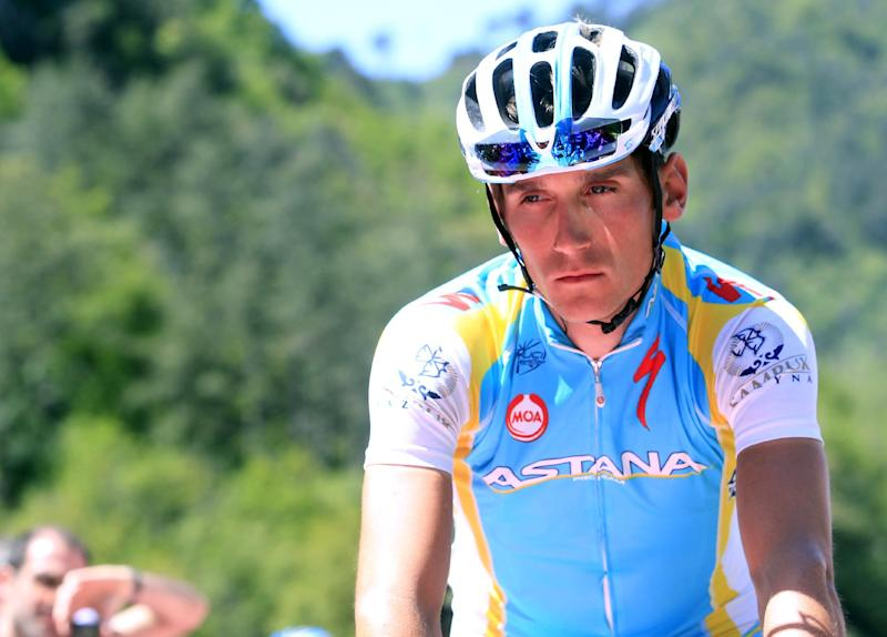 Czech Republic cyclist Roman Kreuziger during the Tour of Italy cycling race in Sestri Levante on May 17, 2012