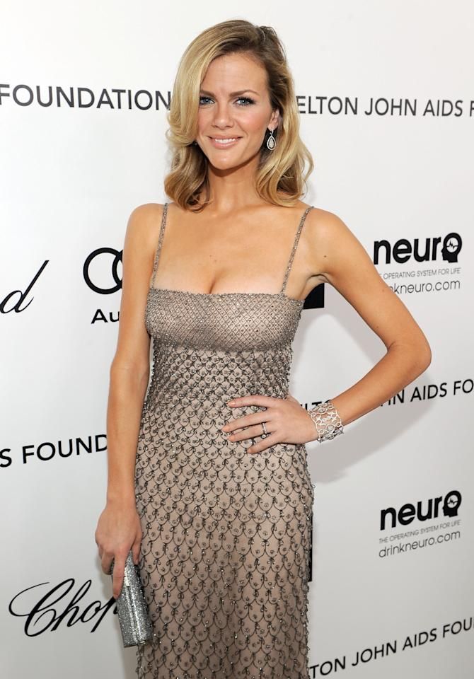 BEVERLY HILLS, CA - FEBRUARY 26:  Actress/model Brooklyn Decker arrives at the 20th Annual Elton John AIDS Foundation Academy Awards Viewing Party at The City of West Hollywood Park on February 26, 2012 in Beverly Hills, California.  (Photo by Larry Busacca/Getty Images for EJAF)
