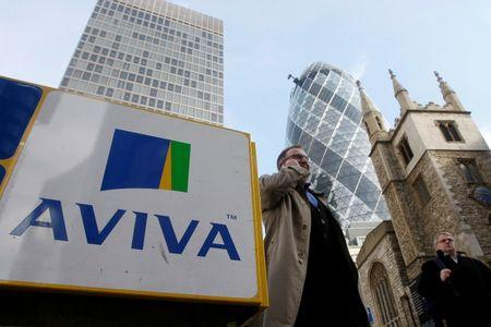 Shares bounce for Aviva as half-year profits rise