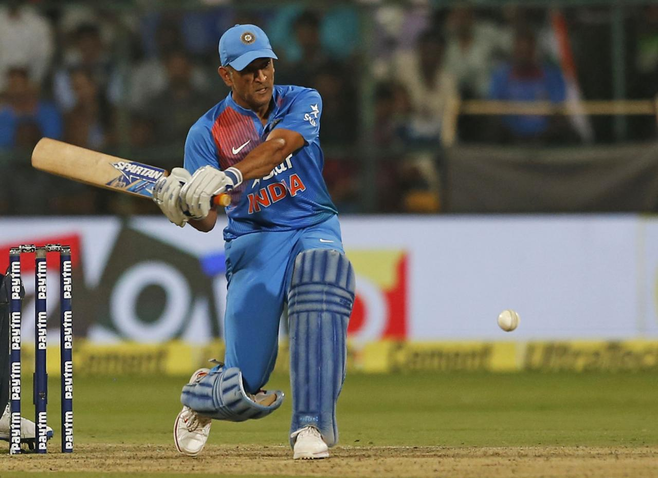 <p>1 – Dhoni's first 50 in T20Is -his previous best was 48* against Australia </p>