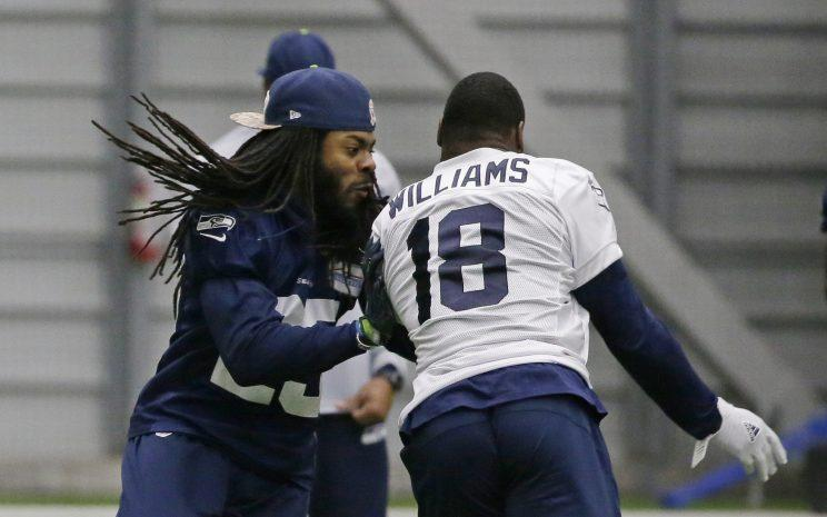 National Football League  warns Seahawks for not listing Richard Sherman on injury report