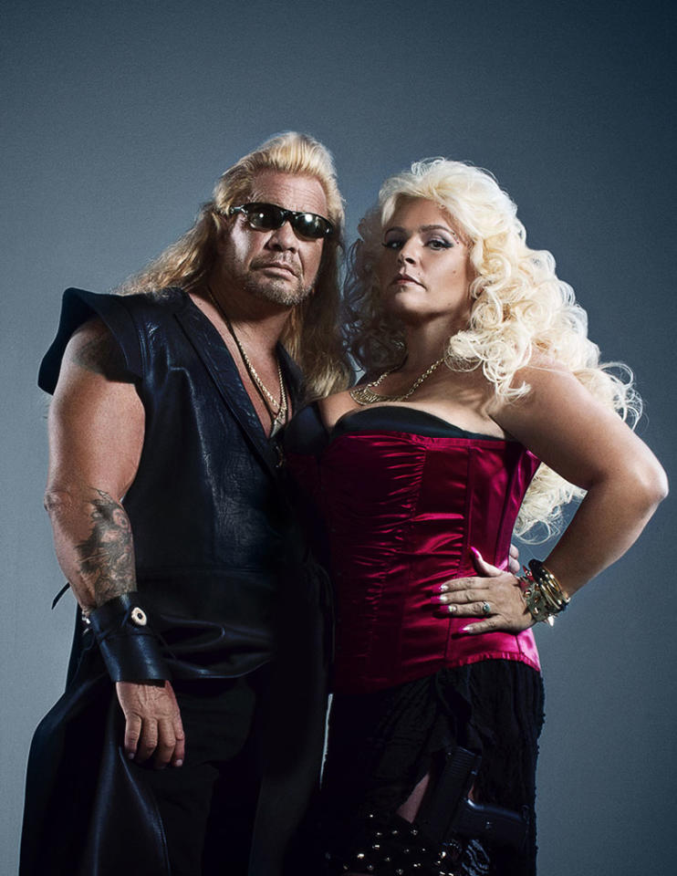 """The world's most renowned bounty hunters, Dog and Beth Chapman, return to television in an all-new CMT series, """"Dog and Beth: On the Hunt."""" Dog and Beth, joined by their son Leland, will step outside their headquarters in Hawaii to unite with bail bondsmen from around the country as they hunt down some of America's most dangerous criminals."""