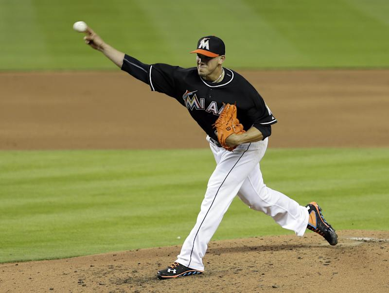 Fernandez pitches Marlins past Padres, 5-0